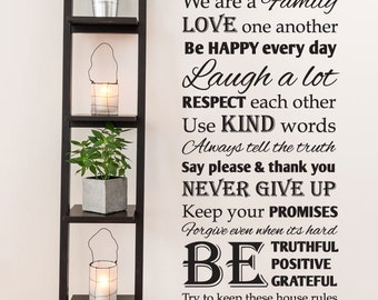 House Rules vinyl wall decal