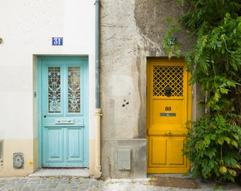Paris Door Photography Print - Colorful Paris Doors - Paris Wall Art - Travel Photography Print - Francophile Gift - Gallery Wall Art Print