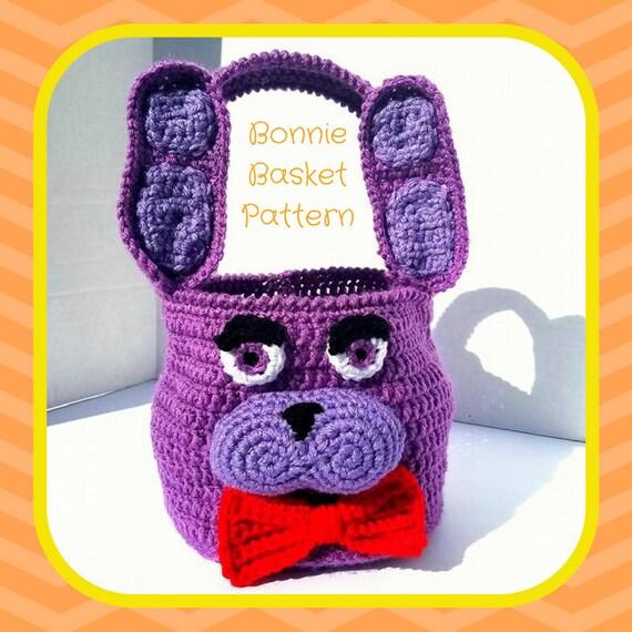 Bonnie Crochet Pattern, Bonnie Amigurumi Pattern, FNAF Amigurumi Pattern, FNAF Crochet Pattern, Basket Crochet Pattern, Five Nights Pattern