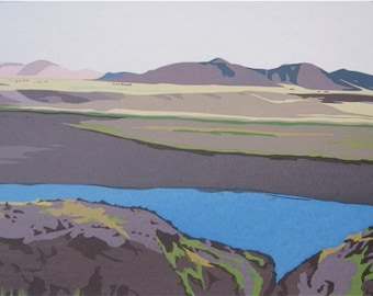High in the Andes, limited edition serigraph