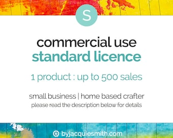 Commercial Use { Standard } Licence : No Credit - Add On to Single Product Purchase (jes0157)