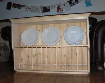Plate rack, French farmhouse design
