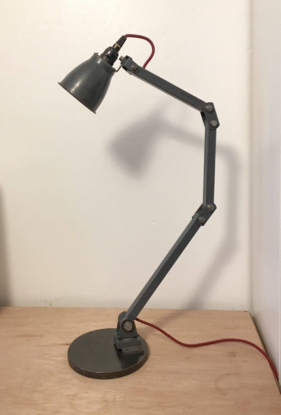Vintage Memlite British Industrial Task Lamp Circa 1950's