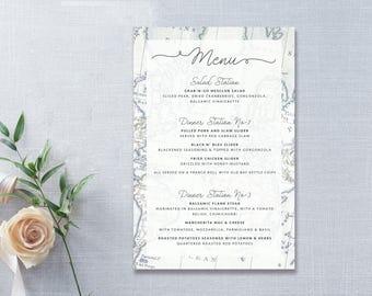 Travel wedding menu etsy vintage travel wedding food menu ideas vintage inspired menu card design template diy wedding menu cards junglespirit Image collections