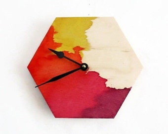 Wall Clock, Spring Wall Decor, Natural Wood Clocks, Handmade Wall Clocks