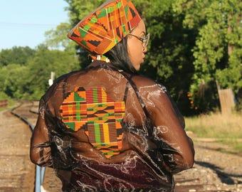 Mesh Africa Kente Bomber Jacket