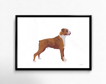 Giclée Limited Edition Bulldog Print made from original Oil Painting