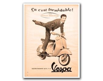 Retro Poster Art Scooter Home Decor Vintage Print (H263)
