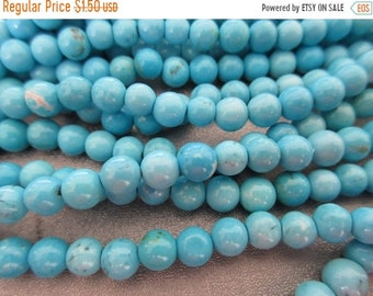 ON SALE 20% OFF Magnesite Turquoise Round 6mm Beads 68pcs