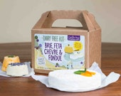 Dairy Free Brie, Feta, Chevre & Fondue DIY Kit - Vegan, Paleo, Allergy Friendly