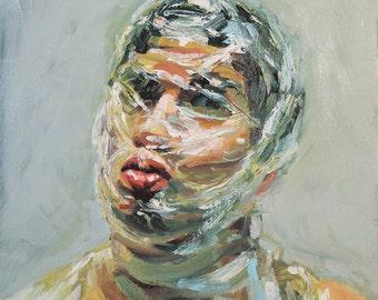 Mythology Head II, Collaborative Oil Painting