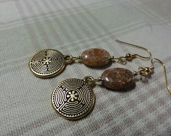 Spritual Labyrinth Earrings