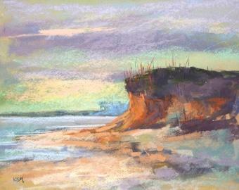 Florida painting Dunes Seascape Beach  ART Original Pastel Painting 11x14