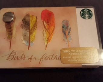 Starbucks Upcycled Refillable Giftcard Notebook - 2015 Birds of a Feather