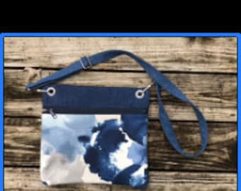 Crossbody bag, womens crossbody bags, denim bag, denim crossbody bag, blue bag, blue cross body bag