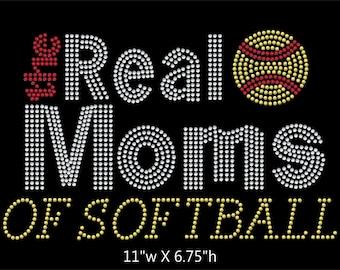 The Real Mom's of Softball Rhinestone transfer bling
