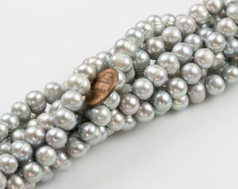 10-11mm  Freshwater Pearl-Off Round GrayFreshwater Pearl