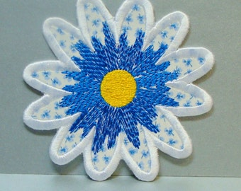 Daisy Patch Embroidered Clothing Applique -100196