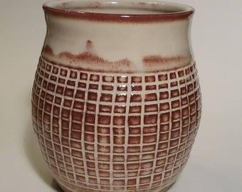 handmade pottery utensil holder