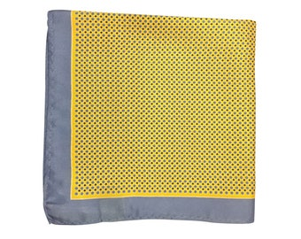 Silk Pocket Square / Pocket Handkerchief / Yellow Handkerchief / Mens Handkerchiefs Men Hanky / Silk Handkerchief