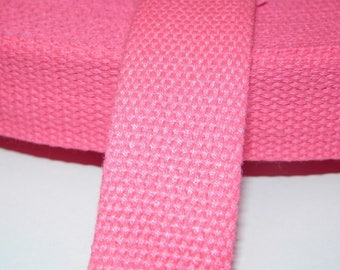25 mm neon pink cotton strap