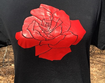 Rose Flower Shirt - Rose Apparel - Red Rose Shirt - Gifts for Her - Gift for Women - Gift for Wife - Anniversary Gift - Gift for Girlfriend