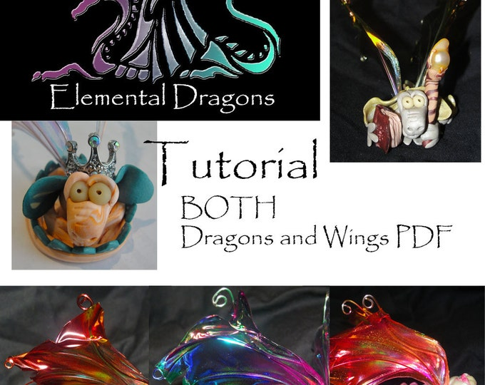 Featured listing image: BOTH my How to make Elemental Dragons and Wings - PDF