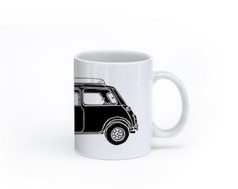 KillerBeeMoto:   Limited Release British Engineered Vintage Compact Car On Coffee Mug (White)