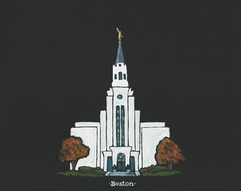 Custom LDS Temple acrylic painting, 8x10