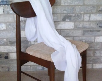 Cotton Gauze Baby Blanket / Toddler Blanket / Cotton Gauze Blanket / White Baby Blanket / Receiving Blanket / Modern Baby Blanket / Baby