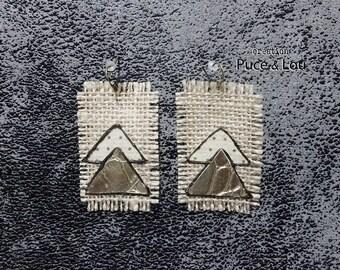 """""""Golden peaks"""" earrings"""