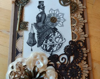 Steampunk Mother's Day Card / Victorian Card / Elegant Mother's Day Card / Armillary Sphere Card