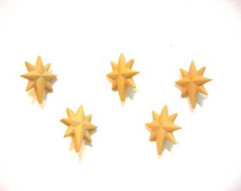 Christmas Star Buttons The Good Shepherd Dress It Up Buttons Jesse James Buttons Set of 5 Shank Flat Back Choice Craft Scrapbook - 527 A
