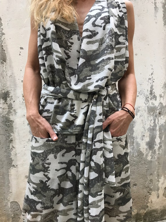 New Party Top Top Sleeveless Pants Harem Military Pants Drape PS0464 Paradox and Tank Pants Top Top Long OOZwqrg