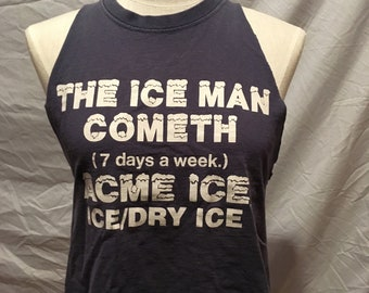 Sleeveless Ringer Tank with Fringe- the ICE MAN COMETH!