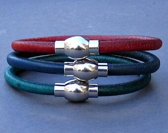 Stainless Steel Mens Bracelet, Leather Bracelet For Men, For Husband,  For Boyfriend, For Him, Boyfriend Gift, Men's Bracelet,  Mens Gift
