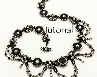 Seed Bead-Woven Necklace Tutorial Melusine's Mercies Digital Download