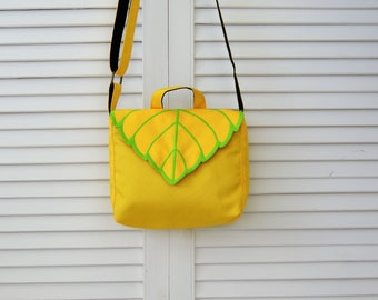 yellow mint leaf Crossbody Bag