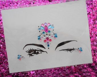 Festival Self-Adhesive Face Jewels BF010