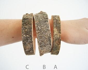 SALE Branch bracelet // Birch tree 62 - 66 mm, 2.44 - 2.6 inch, small bangle