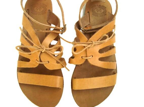 Summer Klitemnistra Greek leather sandals Womens flats Natural sandals sandals Brown sandals sandals Leather Greek sandals ZpZw68qR