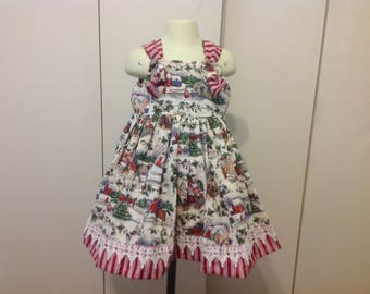 Girls Christmas toile 4t Boutique dress