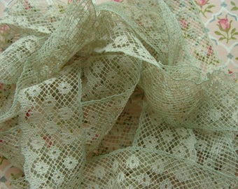 Gorgeous Antique French Netted Lace