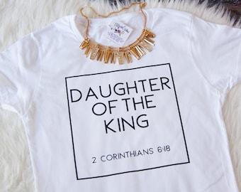Christian T Shirts   Daughter of the King Shirt   Christian Shirt for Women   Christian shirt   Cute christian shirt   Women's Jesus shirt
