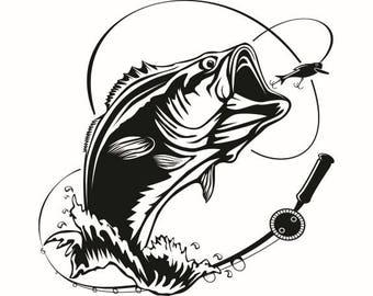 fish hook etsy rh etsy com Gone Fishing Gone Fishing Cartoon