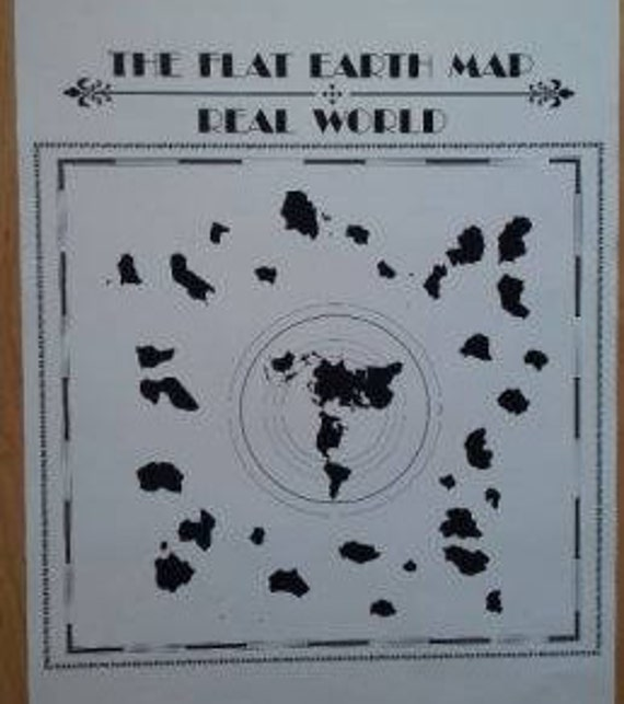 Poster the flat earth map real world description buddhist world map gumiabroncs Image collections