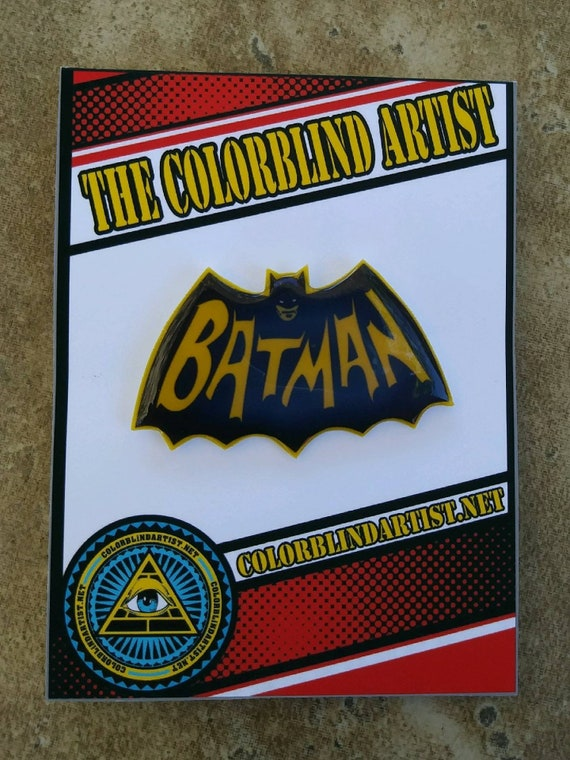 Batman 60s Logo Handmade Lapel Pin