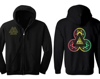 Power of 3 Men's and Women's Hoodie Metatron's Dance Hooded Sweatshirt Sacred Geometry