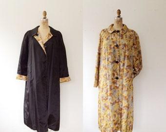 vintage rain coat / reversible rain coat / Elm & Amber Coat