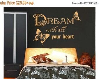 20% OFF Summer Sale Dream wall decal, sticker, mural, vinyl wall art